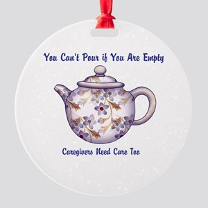 You Cant Pour if You Are Empty Ornament