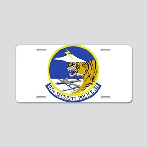 97th Security Police Squadr Aluminum License Plate