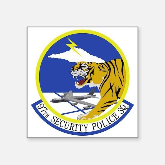 """97th Security Police Squadr Square Sticker 3"""" x 3"""""""