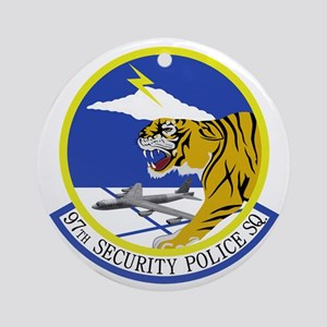 97th Security Police Squadron Round Ornament