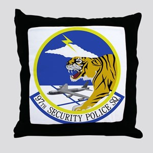 97th Security Police Squadron Throw Pillow