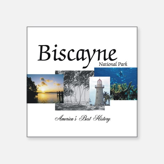 "ABH Biscayne NP Square Sticker 3"" x 3"""