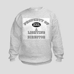 Property of a Lighting Director Kids Sweatshirt