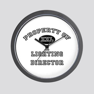 Property of a Lighting Director Wall Clock