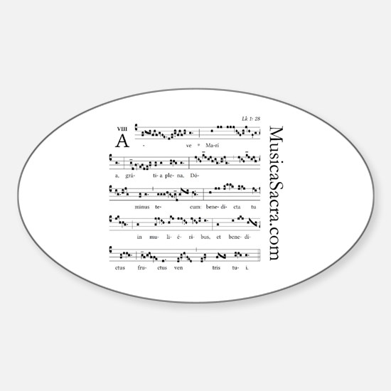 Cute Gregorian Sticker (Oval)