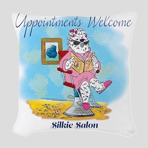 Silkie Salon Woven Throw Pillow