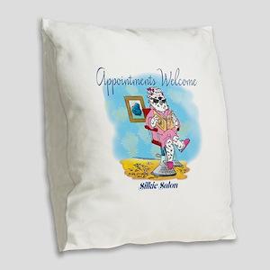 Silkie Salon Burlap Throw Pillow