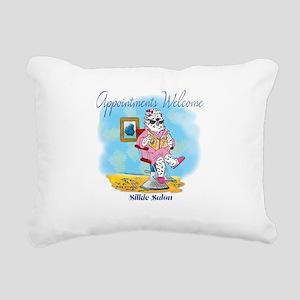 Silkie Salon Rectangular Canvas Pillow