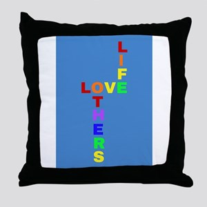Love Life, Love Others Throw Pillow