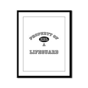 Property of a Lifeguard Framed Panel Print