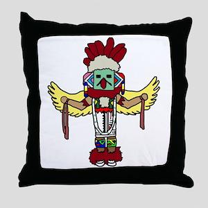 kachina Throw Pillow