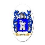 Marty 35x21 Oval Wall Decal