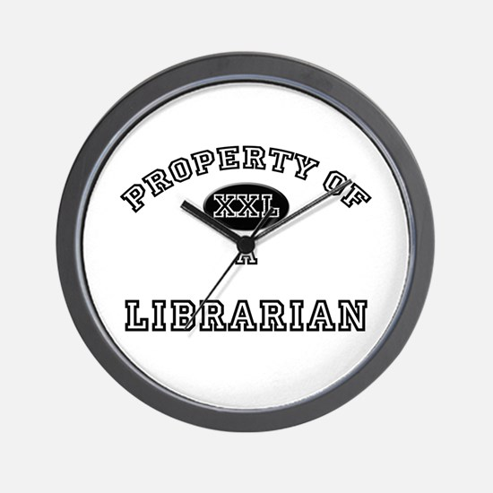 Property of a Librarian Wall Clock