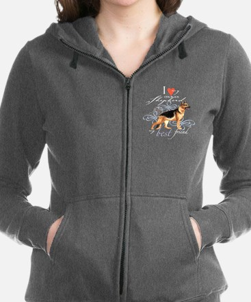 Unique German shepherd breed Women's Zip Hoodie