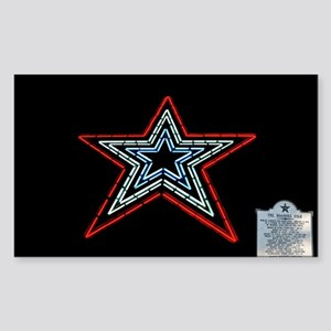 Star with Plaque Sticker