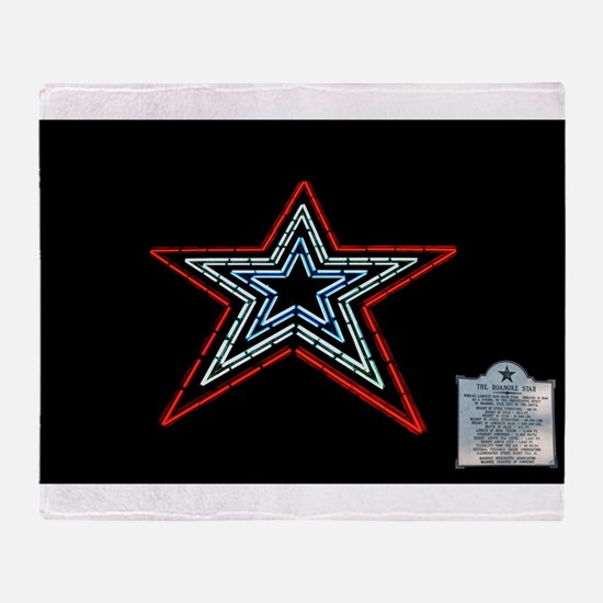 Star with Plaque Throw Blanket