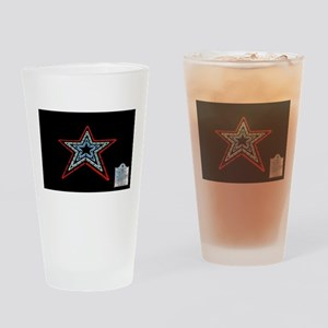 Star with Plaque Drinking Glass
