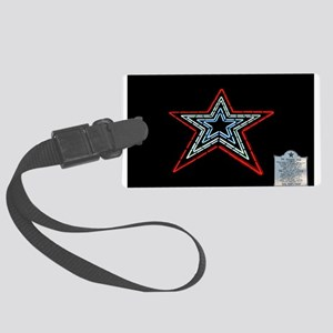 Star with Plaque Luggage Tag