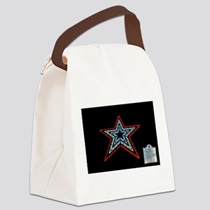 Star with Plaque Canvas Lunch Bag