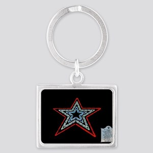 Star with Plaque Keychains