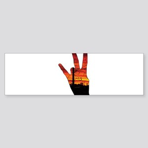 West side hand Bumper Sticker