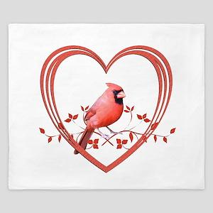 Cardinal in Heart King Duvet