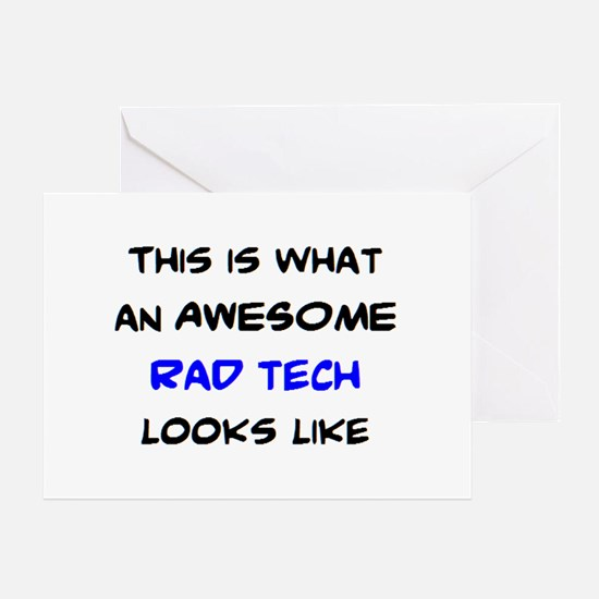 awesome rad tech Greeting Card