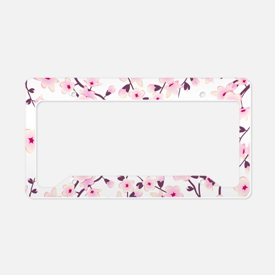 Asia Floral Cherry Blossom License Plate Holder