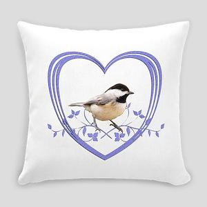 Chickadee in Heart Everyday Pillow
