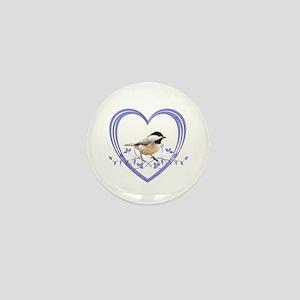Chickadee in Heart Mini Button