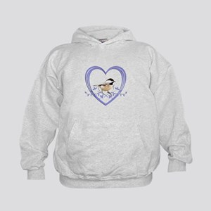 Chickadee in Heart Kids Hoodie
