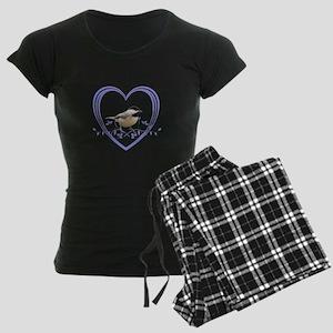 Chickadee in Heart Women's Dark Pajamas