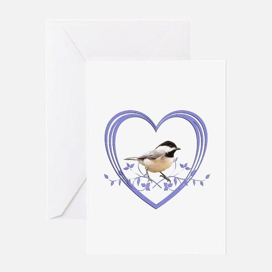 Chickadee in Heart Greeting Card