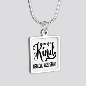 Medical Assistant Silver Square Necklace