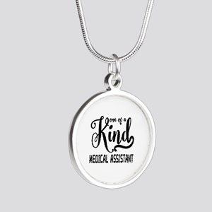 Medical Assistant Silver Round Necklace