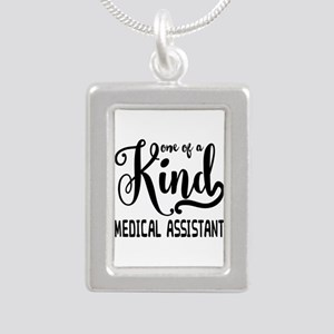 Medical Assistant Silver Portrait Necklace