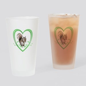 Squirrel in Heart Drinking Glass