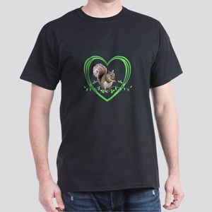 Squirrel in Heart Dark T-Shirt