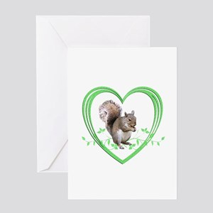 Squirrel in Heart Greeting Card