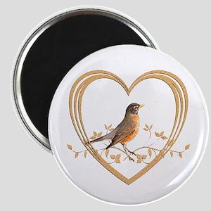 Robin in Heart Magnet