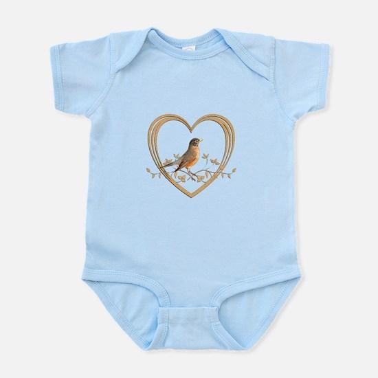 Robin in Heart Infant Bodysuit