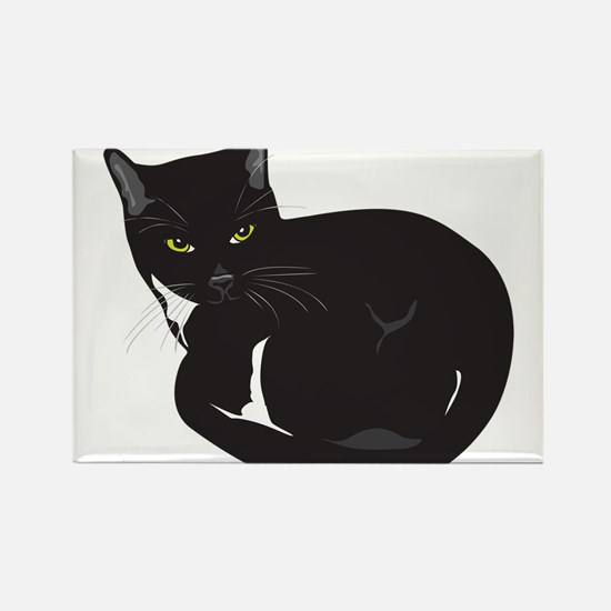 Cute Black and white cats Rectangle Magnet