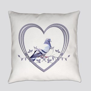 Pigeon in Heart Everyday Pillow