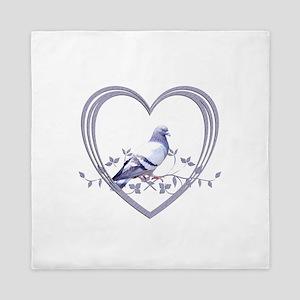 Pigeon in Heart Queen Duvet