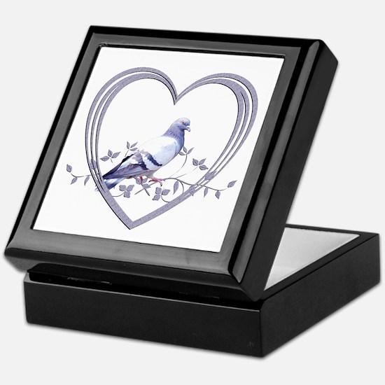 Pigeon in Heart Keepsake Box