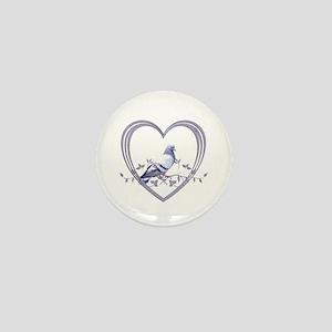 Pigeon in Heart Mini Button