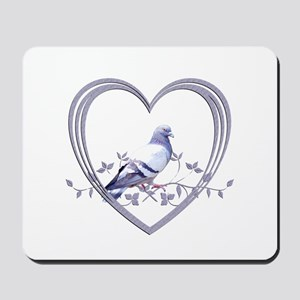Pigeon in Heart Mousepad