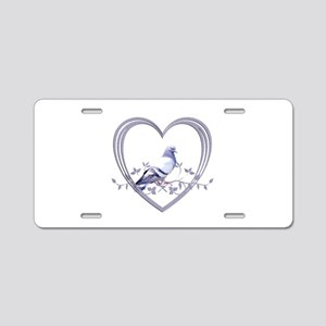 Pigeon in Heart Aluminum License Plate