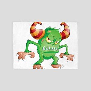 Halloween Monster 3 5'x7'Area Rug