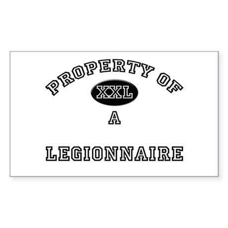 Property of a Legionnaire Rectangle Sticker